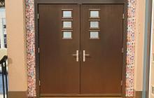 Therma-Tru Pulse Mahogany Door