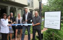 Evolutionary Home Builders ribbon cutting