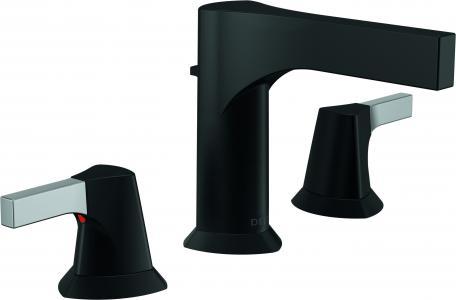 Delta two-handle black matte faucet