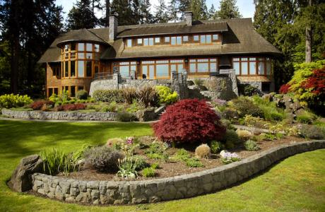 Mansion exterior green gables design & restoration