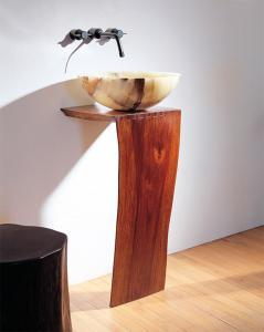 Stone Forest Wood L-Slab Pedestal